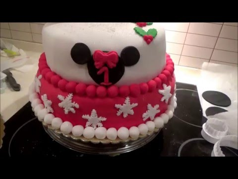 how to birthday cake Minnie Mouse (Τούρτα Ζαχαρόπαστας)
