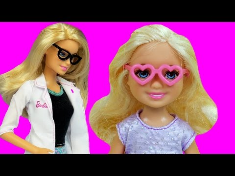 Thumbnail: EYE Doctor ! CHELSEA can't see! BARBIE is the Doctor - Will Chelsea wear glasses?