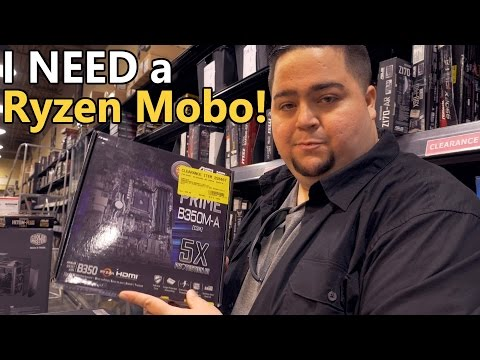 AMD Ryzen Motherboard Shopping at Microcenter
