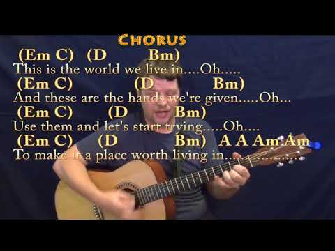 Land of Confusion (Genesis) Strum Guitar Cover Lesson with Chords/Lyrics
