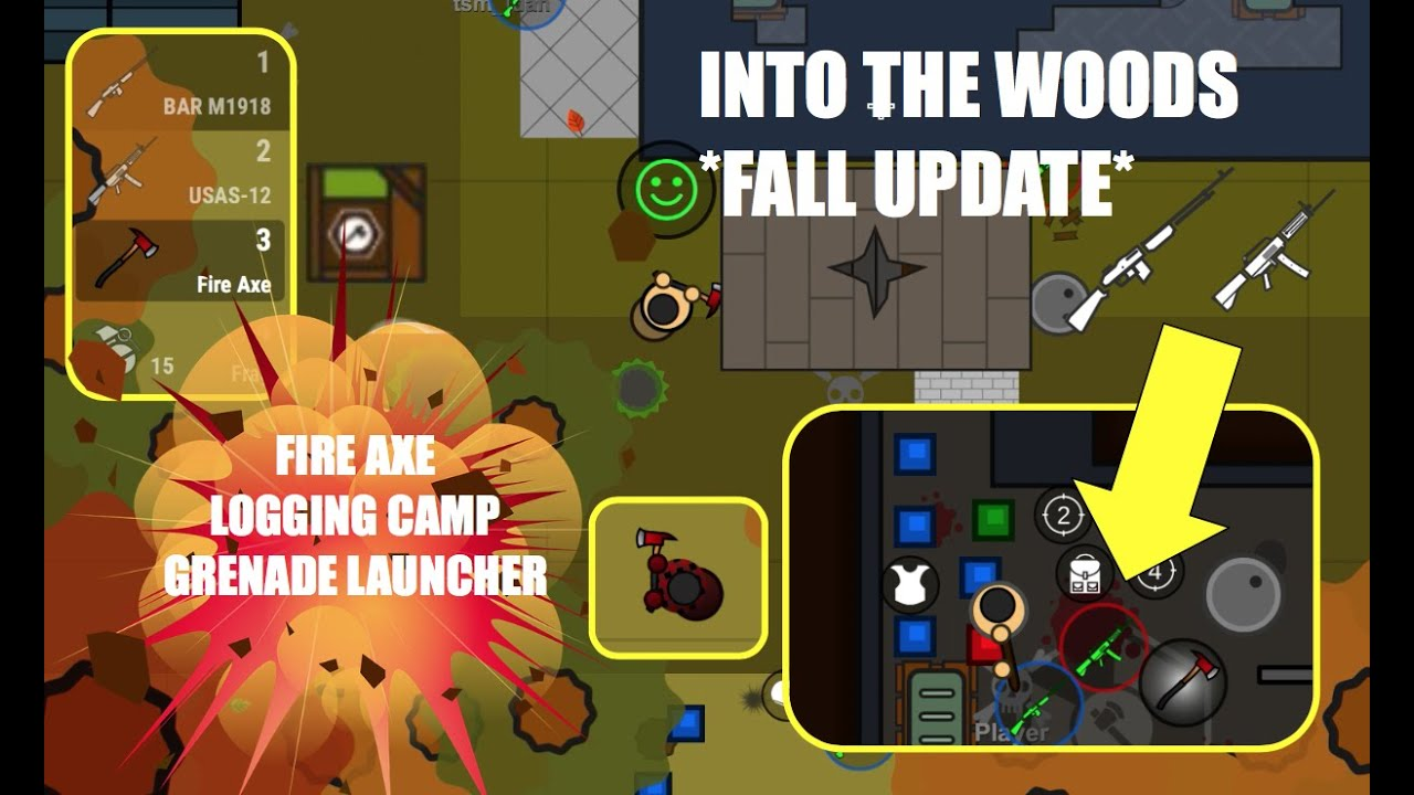 New Fall Update Logging Camp Fire Axe Grenade Launcher New Weapons Skins And Map In Surviv Io
