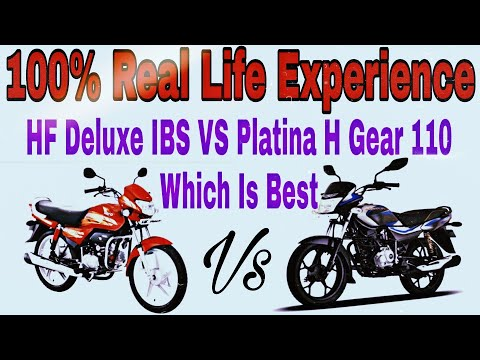 2019 New Hero HF Deluxe IBS VS Bajaj Platina H Gear 110 | Which Is Best | Real Life Experience