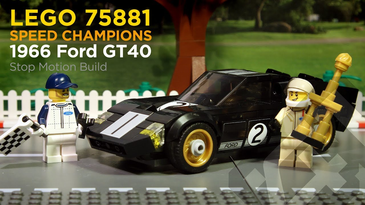 lego speed champions 75881 1966 ford gt40 2017 stop motion build youtube. Black Bedroom Furniture Sets. Home Design Ideas