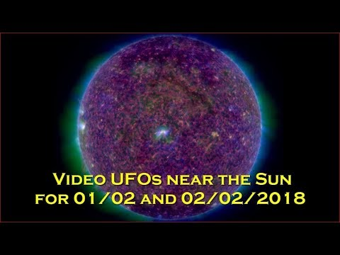 nouvel ordre mondial | Video UFO near the Sun for 01/02 and 02/02/2018