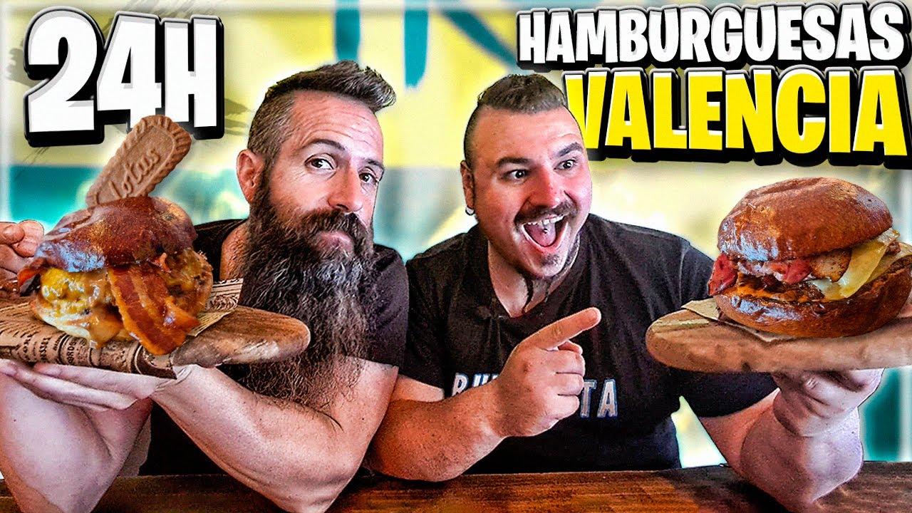 24 Horas COMIENDO HAMBURGUESAS en VALENCIA con JOE BURGER! 🍔