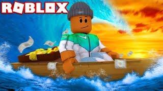 BUILD A BOAT & SURVIVE IN ROBLOX! (Build A Boat For Treasure)