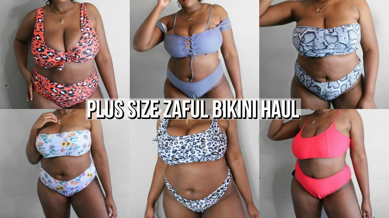 be67d1f3baa07 plus size bikini try on haul (zaful) - YouTube