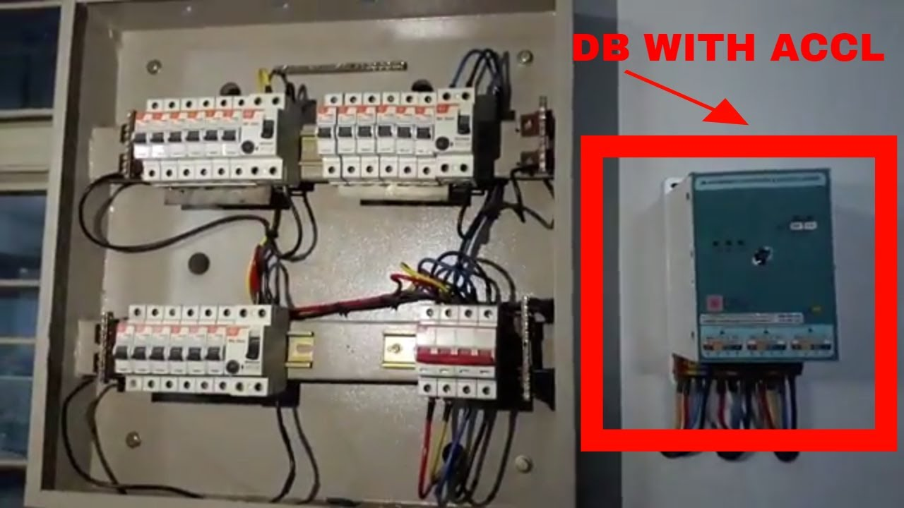 three phase db installation with changeover switch mcb connection for 3 phase phase distribution [ 1280 x 720 Pixel ]