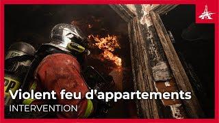 3 personnes sauvées d'un violent feu d'appartement dans le 16e arrondissement