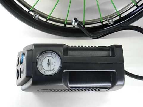 自転車の 自転車 空気入れ 電動 携帯 : ... 充電式電動空気入れ) - YouTube