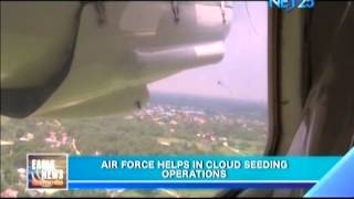 Air force helps in cloud seeding operations