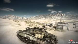 T-90A Tank Gameplay Off-Road Battlefield 3 HD 1080p