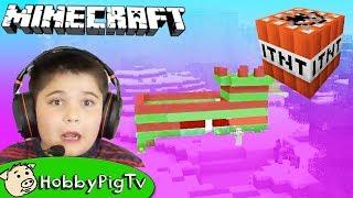 Minecraft Castle Challenge Arrow Battle HobbyPigTV