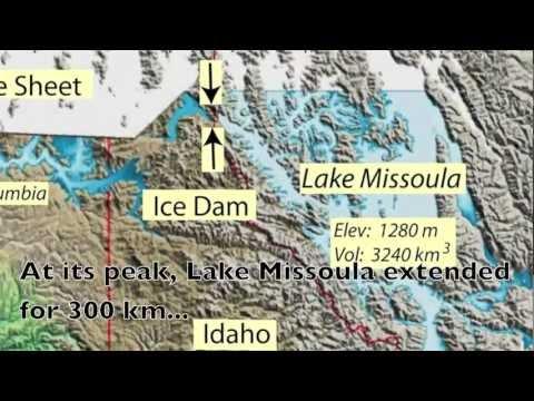 Scablands Washington Map.Glacial Lake Missoula Flood Mov Youtube