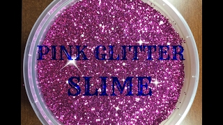 PINK GLITTER SLIME!! (Most Satisfying!)