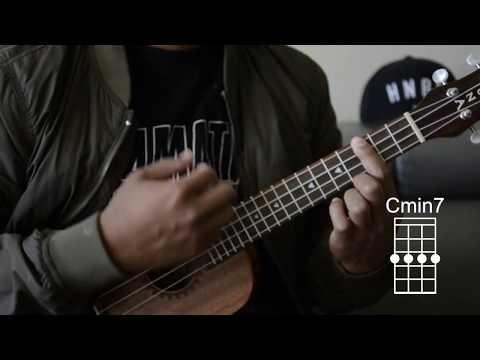 how to play c, cm, c7, cmaj7, and cmin7 - ukulele chords
