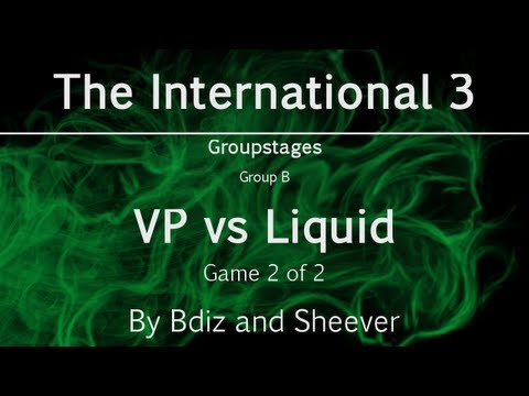 Dota 2 - The International 3 -- VP vs Liquid, game 2 - Group B