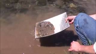 """The """"GOLD HOLE"""" Gold Pan, New mining product will revolutionize panning forever!"""