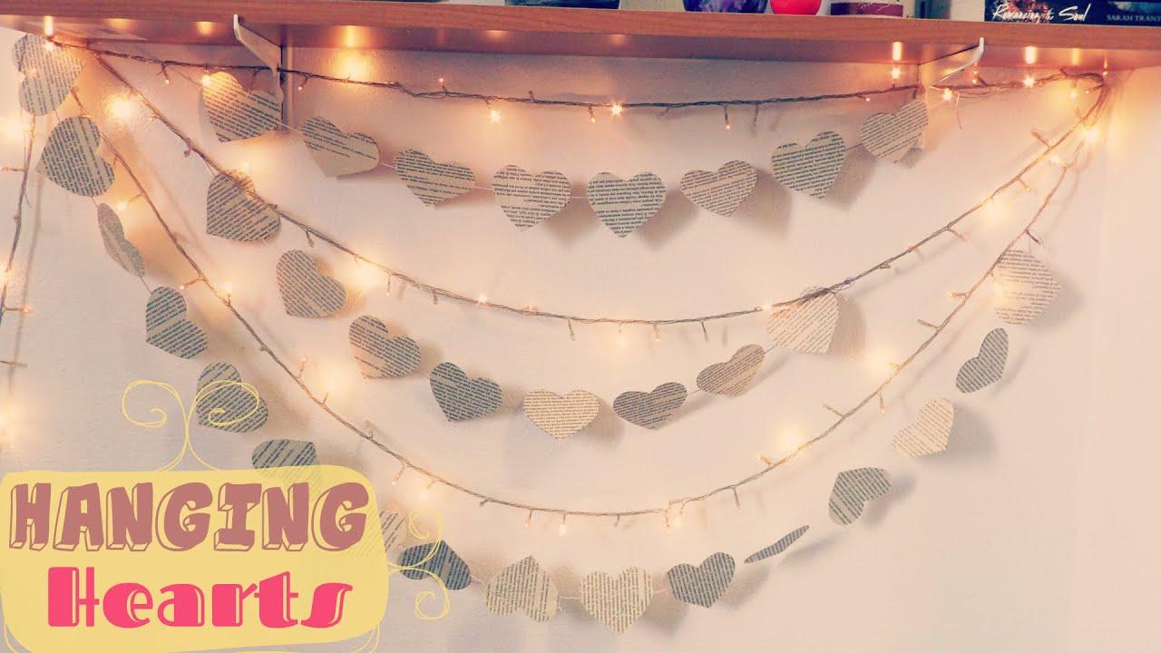 Hanging Hearts   Heart Decorations | Bedroom Decor Ideas