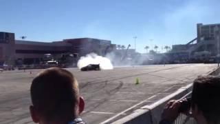 Gymkhana Ken Block drifting at SEMA Las Vegas 2012 in his Monster E...