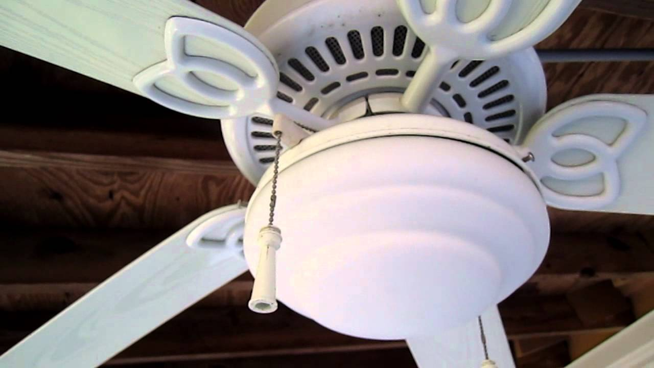 White Hampton Bay Gazebo Ceiling Fan Youtube