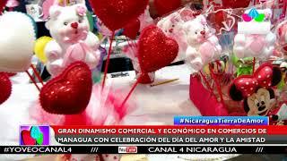 Multinoticias | Gran dinamismo comercial en Managua en el día del amor y la amistad