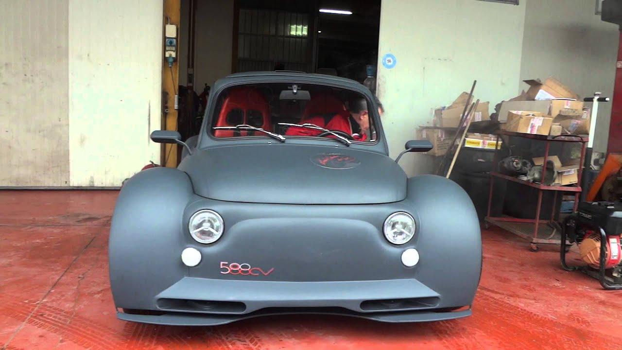 Fiat 500 Abarth 0 60 2 >> Rombi Di Gloria - Start & REV FIAT 500 Lambo by Oemmedì Meccanica - YouTube