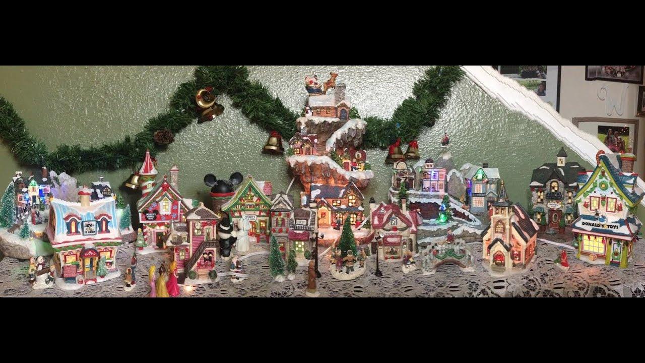 disney christmas village time lapse decorating video