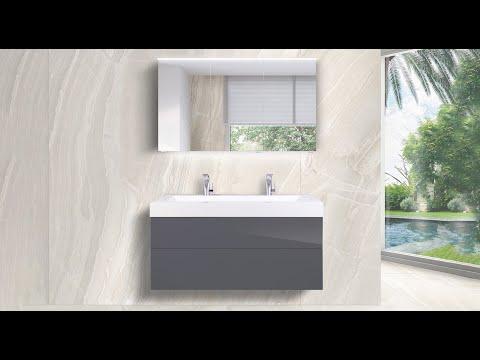 Waschtisch LIGNUM 120 cm Badmöbel Set grifflos