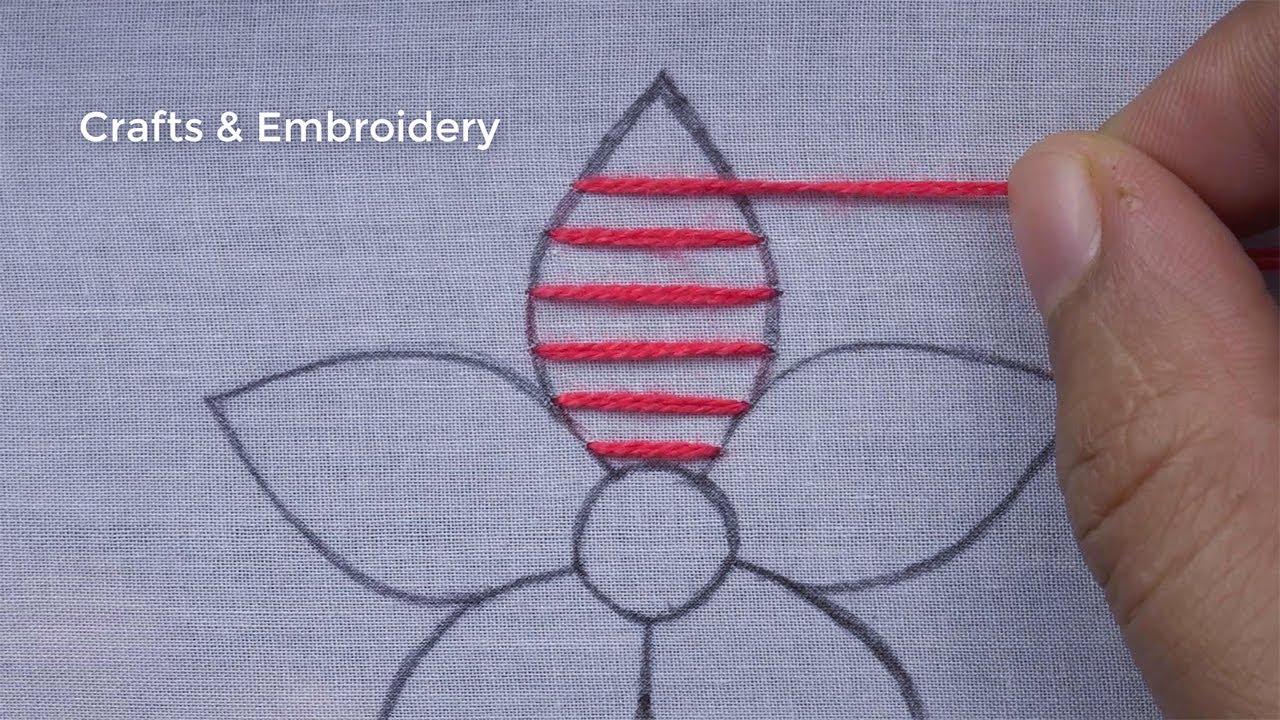 Amazing Hand Embroidery tutorial   Easy Flower Embroidery Design for  Beginner   bordado para flores