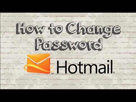 How To Change Hotmail Password In 2 Minutes