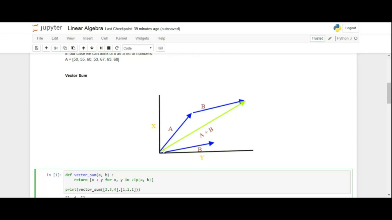 Basic concepts in linear algebra and vector spaces a tutorial.