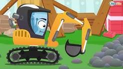 Bagger und Traktor kinderfilm - Bagger gräbt Grube   Cartoon für Kinder - Super Zeichentrickfilm