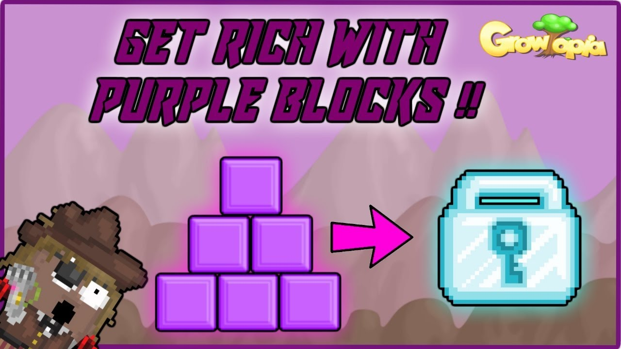 Growtopia Get Rich With Purple Blocks Very Easy Youtube