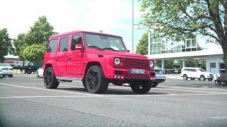 Red BRABUS G-Wagon