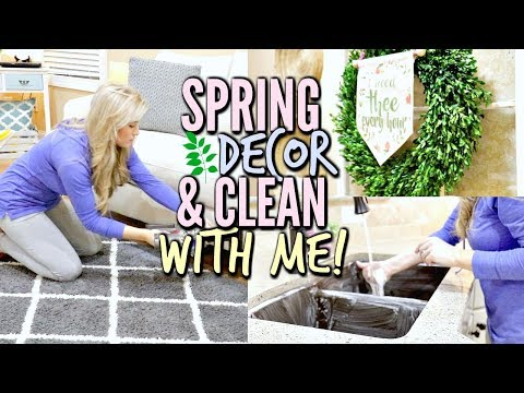 SPRING DECORATE & CLEAN WITH ME | EASTER HOUSE TOUR 2018 | SHOP WITH ME