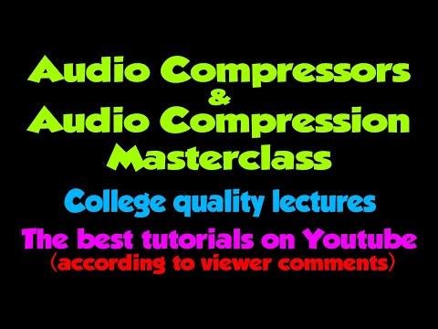 Compressors & Audio Compression tutorial 3 (Threshold & Ratio)