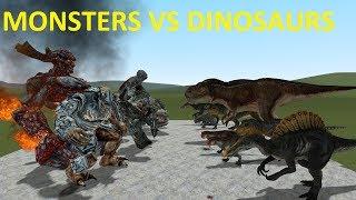 - DINOSAURS VS MONSTERS BIG BOSSES GMOD FIGHTS