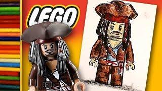 ДЖЕК ВОРОБЕЙ и Джонни Депп / Как нарисовать LEGO урок рисования для детей