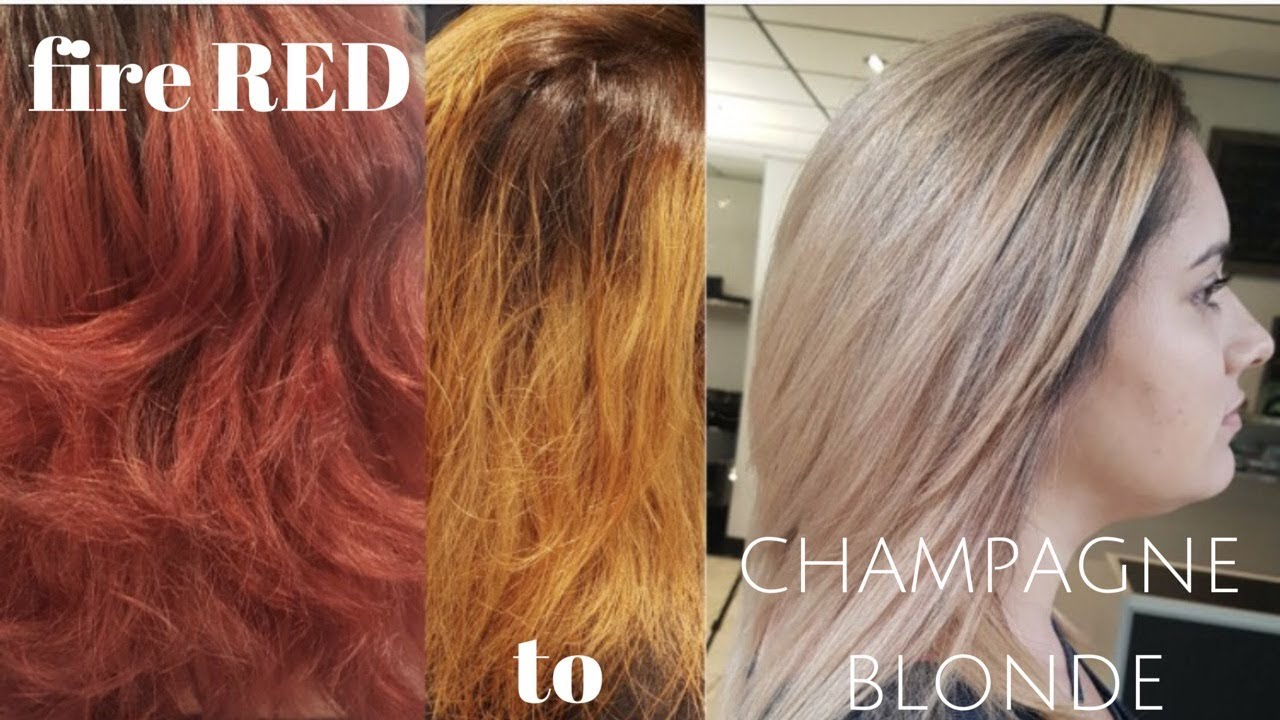 Fire Engine Red To Champagne Blonde Youtube