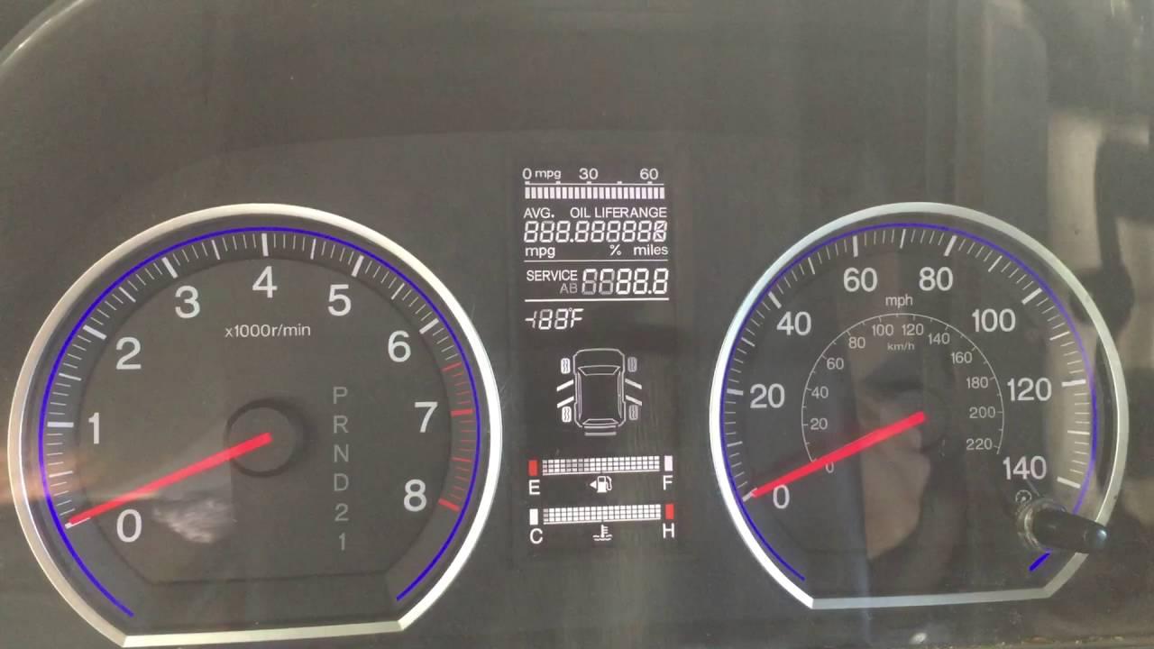 2008 Honda Crv Dashboard Lights