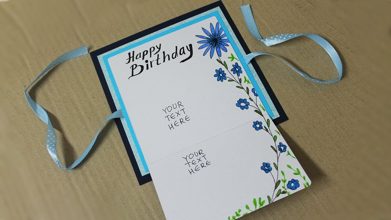 How To Make Birthday Card For Boyfriend