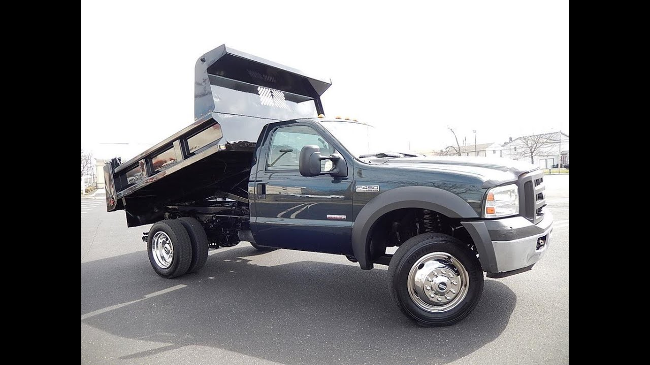 2005 ford f450 mason dump truck 4x4 diesel youtube. Black Bedroom Furniture Sets. Home Design Ideas