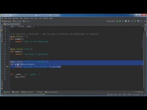 Flask Web Development with Python Tutorial - 2 - Routing