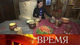 Смотреть видео В Москве на ВДНХ после масштабной реконструкции открылась выставка «Россия - моя история». онлайн