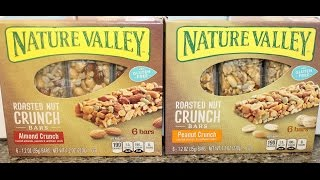 Nature Valley Roasted Nut Crunch Bars: Almond Crunch & Peanut Crunch Review