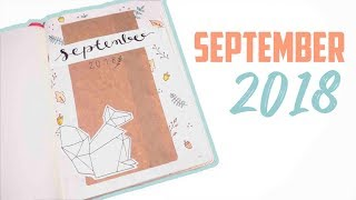 BULLET JOURNAL SEPTEMBER  2018! squirrel and autumn theme | Mina Jacobsen