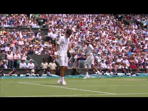 2013 Day 11 Highlights: Juan Martin Del Potro v Novak Djokov