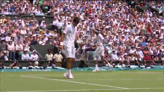 2013 Day 11 Highlights: Juan Martin Del Potro v Novak Djokov