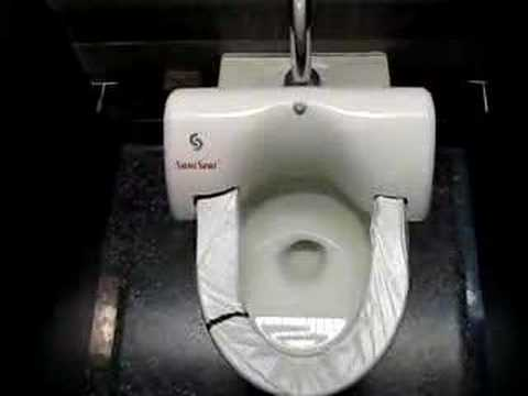 changing a toilet seat.  Auto changing toilet seat covers YouTube